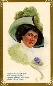 Lady in Green.     Artist: A. Heinze