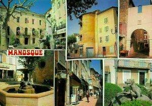 France Manosque Alpes de Haute Provence Fountain Statue Monument Postcard