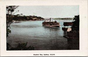 Neutral Bay Sydney NSW Australia Steamship Boat Postcard F92