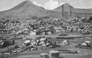 General View of San Luis Obispo, California 1922 Vintage Postcard