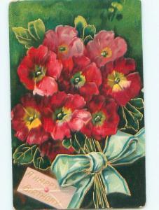 Divided-Back BEAUTIFUL FLOWERS SCENE Great Postcard AA3611