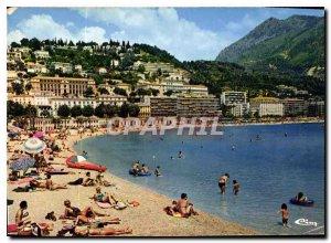 Postcard Moderne Menton March Alp Beach