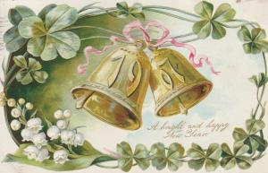 Bright and Happy 1907 New Year Greeting - Bells - pm 1906 - DB
