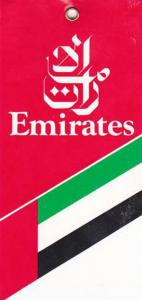 EMIRATES AIRLINES VINTAGE AVIATION TAG