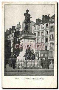 Old Postcard Paris Statue of Etienne Dolet