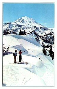 Postcard Mt Rainier WA Naches Pass 1958 J29