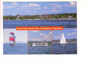 Greetings from Lake Champlain, Vermont, Sail Boats