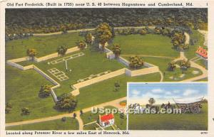 Old Fort Frederick 1755 Hagerstown MD Unused