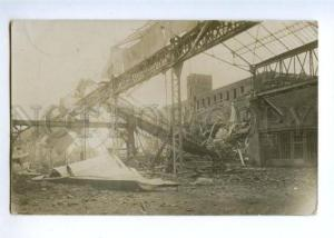 171954 GERMANY WWI destroyed plant Vintage photo 1916 postcard