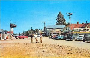 Sauble Beach Ontario Canada Main Street Old Cars Postcard