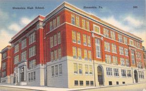 Shamokin PA~High School~1940 Postcard