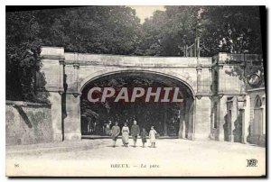 Old Postcard Dreux park
