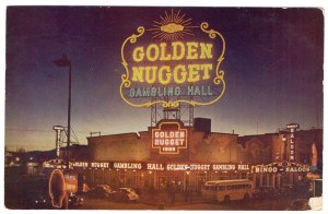 Las Vegas, Night View Of The Golden Nugget Gambling Hall