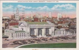 Union Railroad Station From Liberty Memorial Kansas City Missouri 1935