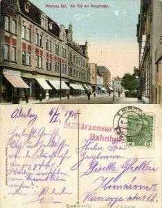 czech germany, ODERBERG BOHUMÍN, Ein Teil der Hauptstrasse (1915) Postcard