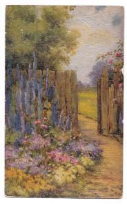 Tucks Oilette Flora Pilkington Painting All in a Garden Fair Textured Postcard