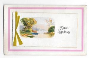 Easter Happiness Booklet Add-On Vintage Novelty Postcard