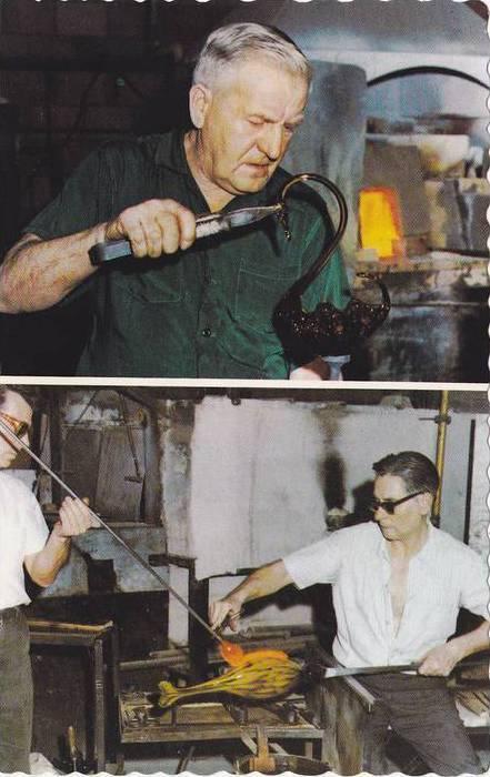 2 Views, Altaglass Company, Glass Swan, Hand Made Glass, Traditional Furnishi...