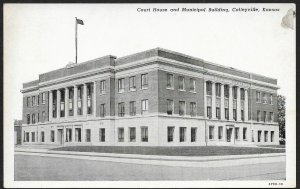 Court House & Municipal Building Coffeyville Kansas Unused c1920s
