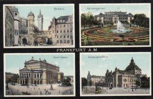 FRANKFURT A. M., Hesse, Germany, 00-10s ; 4-view postcard