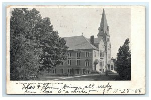 Postcard The Village Church, East Northfield MA Mass 1908 G22