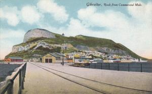 GIBRALTAR, 1900-1910´s; Rock From Commercial Mole