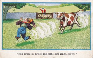 TUCK #58; 1900-1910s; Run Round In Circles And Make Him Giddy, Percy! Man R...