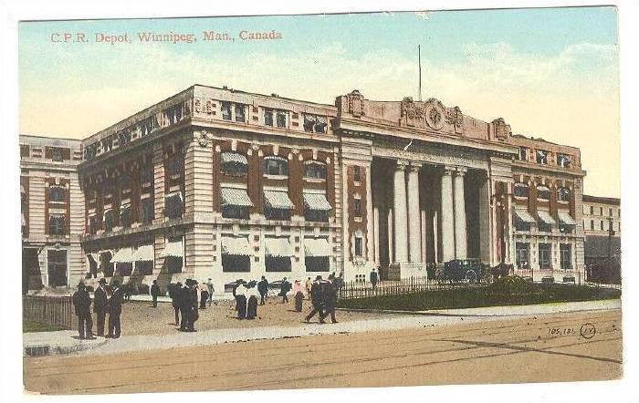 Exterior, C.P.R. Depot,Winnipeg,Manitoba,Canada,00-10s