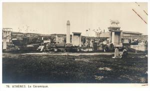 18436 Greece  Athenes 1912 Le Ceramique  Cemetery   RPC
