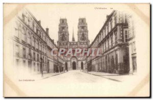 Old Postcard Orleans cathedral