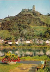 Germany Bernkastel-Kues an der Mosel mit Burgruine Landshut