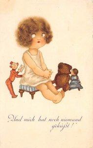 Bear Post Card Stuffed Animal Postal Used Unknown