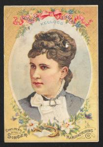 VICTORIAN TRADE CARD Singer Sewing Co 'Celebrated Singers Kellogg' Woman