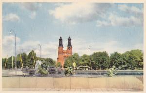 Sweden Eskilstuna Carl Mille's Skulptur Jonas och valfisken