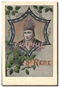 Postcard Old St Rene Surname