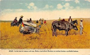 Farming Post Card Modern Agricultural Machines Spain Unused