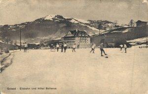 Switserland Gstaad Eisbahn und Hotel Bellevue 04.79