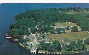 Aerial view,  Elim Lodge Resort,  R.R. 1.,  Peterborough,  Ontario,  Canada, ...