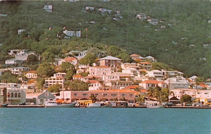 ST THOMAS UNITED STATES VIRGIN ISLANDS DENMARK HILL POSTCARD 1970s
