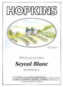 Advertising Dry White Wine, Hopkins, Warren, CT USA Unused