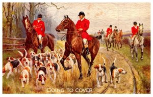 Dog  ,   Going to Cover   ( Fox Hunt )