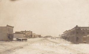 RP: GULL LAKE , Saskatchewan , Canada , 1911s; Conrad Street in Winter