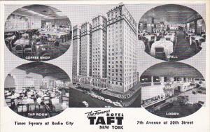 Hotel Taft Multi View New York City 1955