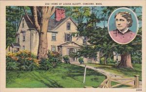 Massachusetts Concord Home Of Louisa Alcott