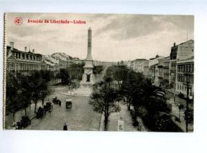 155875 PORTUGAL LISBOA Avenida da Liberdade Vintage postcard