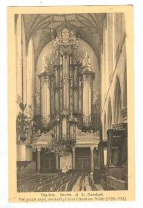 Interior, Great Church or St. Bavo, Haarlem, Holland, Netherlands, 10-20s