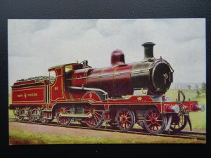 Steam Locomotive NORTH STAFFORD RAILWAY 4-4-0 No.86 at Stoke - Old Postcard