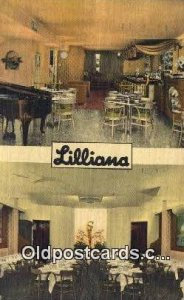 Lilliana Restaurant Restaurant, New York City, NYC Postcard Post Card USA Old...