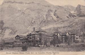 FIELD, British Columbia, Canada, PU-1907; Mount Stephen House, Canadian Pacif...