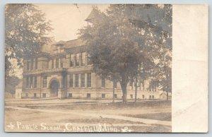 Chatfield Minnesota~Public School~Barns Behind~1905 Real Photo Postcard~RPPC